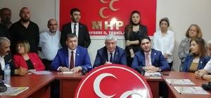 """""""Kayseri'yi Meclis'te en çok gündeme getiren parti MHP""""dir MHP Kayseri Milletvekili İsmail Özdemir: """"14 yurt dışı programına katıldık, 17 ülkeyi ziyaret ettik"""" MHP Kayseri Milletvekili Baki Ersoy: """"Sevdamız Kayseri sloganının patentini aldık"""""""