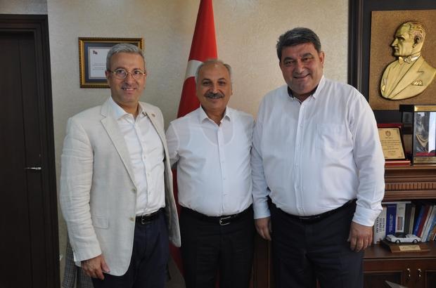 CHP'li Gökçel ve Antmen'den Başkan Dinçer'e ziyaret