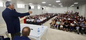 """Karalar: """"Halk ne istiyorsa onu yapacağız"""" Başkan Zeydan Karalar, Saimbeyli'de üzüm üreticiliği projesini yeniden başlattı"""