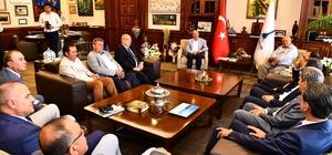 Ticaret odası başkanlarından Başkan Soyer'e ziyaret