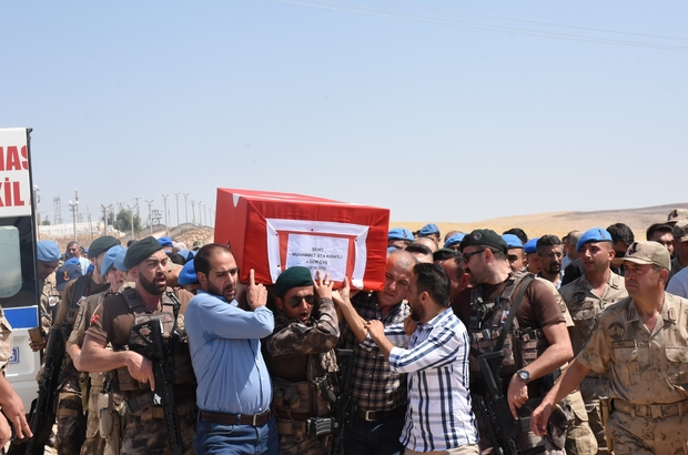 Nusaybin şehidi düzenlenen törenle memleketi Elazığ'a uğurlandı