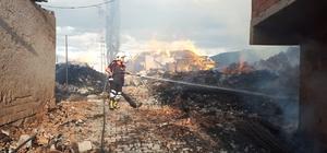 Çorum'da köyde yangın çıktı, 7 ev kül oldu