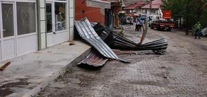Ordu'da şiddetli fırtına ve yağış maddi hasara yol açtı