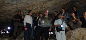 Erzurum'da mağara turizmi canlandırılacak Vali Memiş, Kivi Mağarası'nda incelemelerde bulundu