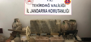Tekirdağ'da Roma ve Bizans dönemlerine ait 135 parça tarihi eser ele geçirildi