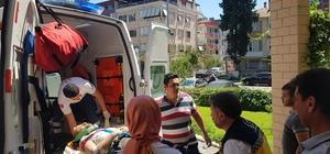 Kula'da motosiklet devrildi: 2 yaralı