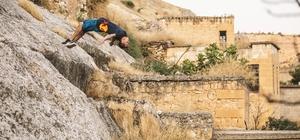 Dünyaca ünlü sporcu Titarenko'dan Halfeti'de akrobasi şovu