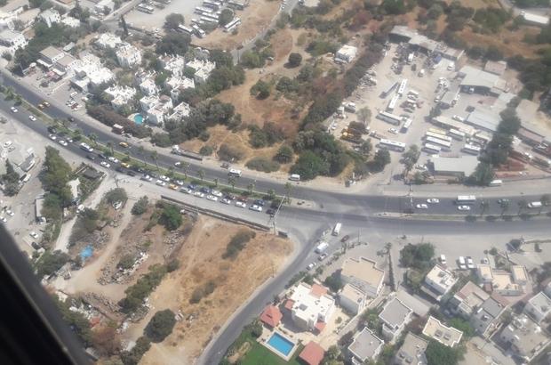 Bayramın son günü Muğla'da trafik havadan ve karadan denetlendi Muğla Marmaris ve Bodrum'da trafik normal seyrinde devam ediyor