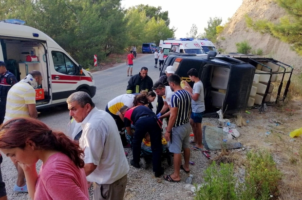 Safari cipi devrildi: 6'sı yabancı uyruklu 16 yaralı Yaralılar, Kaş ile Muğla'nın Fethiye ilçesindeki hastanelere kaldırıldı