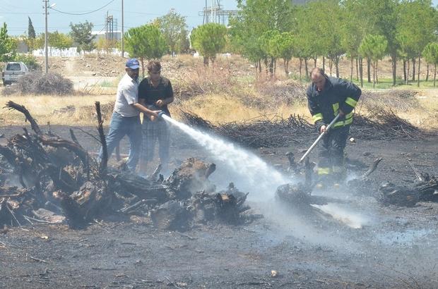 Hayvan damlarında yangın çıktı, hayvanlar telef olmaktan kurtarıldı