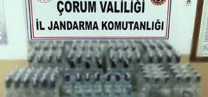 Jandarma'dan kaçak içki operasyonu Jandarma ekipleri tarafından düzenlenen iki ayrı operasyonda 156 şişe kaçak içki ele geçirildi