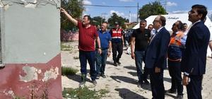 Denizli Depremi'nde Afyonkarahisar'da 224 evde ağır hasar gördü Afyonkarahisar Valisi Mustafa Tutulmaz depremin hasar gördüğü ilçelerde incelemelerde bulundu