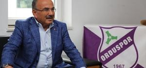 """Hilmi Güler: """"Orduspor efsanesi geri dönecek"""" Ordu Büyükşehir Belediye Başkanı Dr.Mehmet Hilmi Güler: """"Ordu'da tek bir takım olsun ve güçleri birleştirelim. mor beyaz olarak bir takımımız olsun. 1967 Orduspor toplam gücümüzü; bir araya getirelim. Yöneten değil yönlendiren ve bir abi olarak Ordu'nun imkânlarını birleştirelim istiyoruz. Eski muhteşem gününe dönelim istiyoruz"""""""
