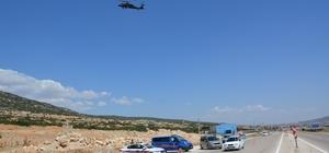 Korkuteli'nden Finike'ye helikopter destekli trafik uygulaması Havadan denetimde 6 bin 825 TL ceza uygulandı
