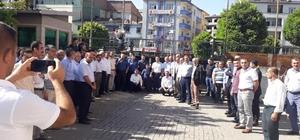 Kaymakam Alibeyoğlu vatandaşlarla vedalaşarak ilçeden ayrıldı
