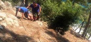 Mahsur kalan Rus turisti AFAD ekibi kurtardı