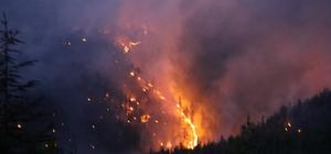 """Kaş'taki orman yangını 6 saat sonra kısmen kontrol altında Kaş Belediye Başkanı Ulutaş: """"Gece boyu çalışma devam edecek"""" """"Yerleşim yerlerine tehdit ortadan kalktı"""""""