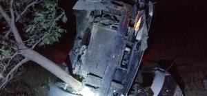 Konya'da otomobil takla attı: 5 yaralı