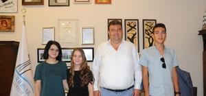 Başkan Yetişkin'den gençlere Samos ödülü