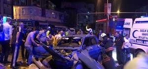 Polis noktasından kaçan araç kaza yaptı: 5 yaralı
