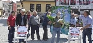 Gürleyik'deki kirliliğe ilginç protesto