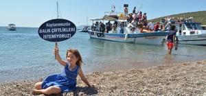 Balık çiftliği protesto edildi