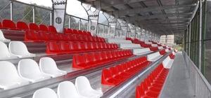 Çatalpınar ve Aybastı ilçe futbol sahalarına tribün yapıldı