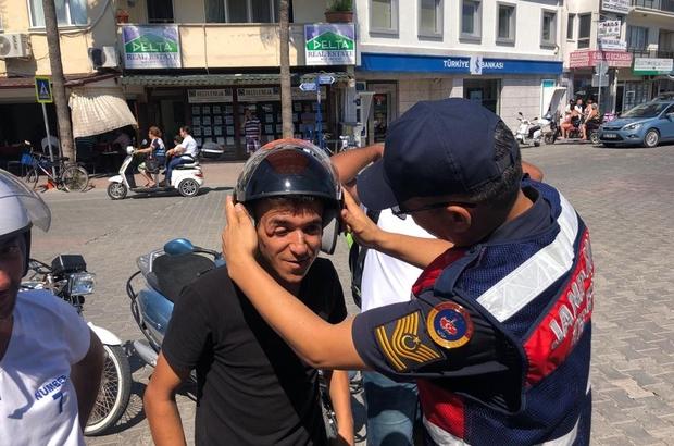 Jandarmadan ceza yerine kask