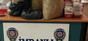Sivas'ta 21 kilo kaçak tütün ve bin adet makaron ele geçirildi