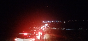 Panayır yolunda trafik çilesi... Saatler sonra ulaştılar