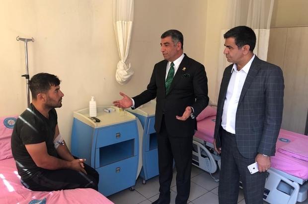 """Milletvekili Erol, terör saldırısında yaralananları hastanede ziyaret etti CHP Elazığ Milletvekili Gürsel Erol: """"Terörle mücadelede ulusal birliktelik ve ulusal bir politikaya ihtiyaç vardır"""" """"Buradaki izlenimlerimizi genel başkanımıza bir rapor halinde sunacağız"""""""