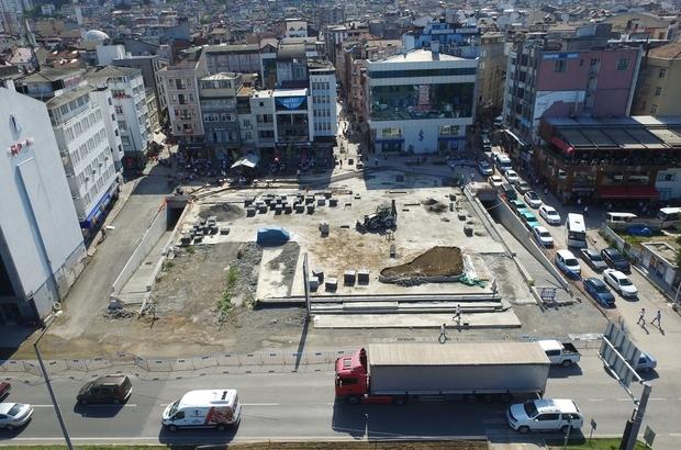 """Fatsa'da meydan çalışmaları yeniden başladı Hilmi Güler: """"Projenin yüzde 70'i tamam"""""""
