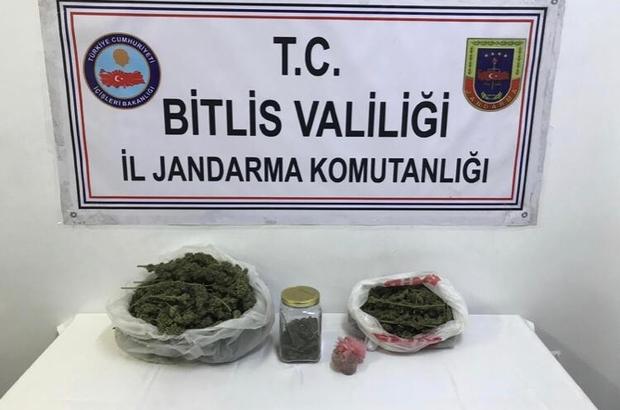 Bitlis'te 4 kilo 300 gram kubar esrar ele geçirildi