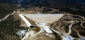 Menderes ovasında 14 bin 340 dekar tarım alanı suyla buluşacak Rahmanlar Barajı'nda yüzde 80 fiziki gerçekleşmeye ulaşıldı