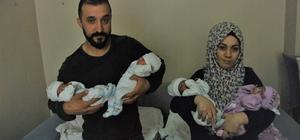 Çocuk özlemi çeken çiftin 4'üz bebekleri oldu