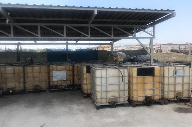 Nakliye firmasına ait yer altı tankında 13 bin litre kaçak akaryakıt ele geçirildi