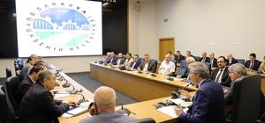 Başkan Yüce Büyükşehir, SASKİ ve BELPAŞ bürokratlarıyla buluştu