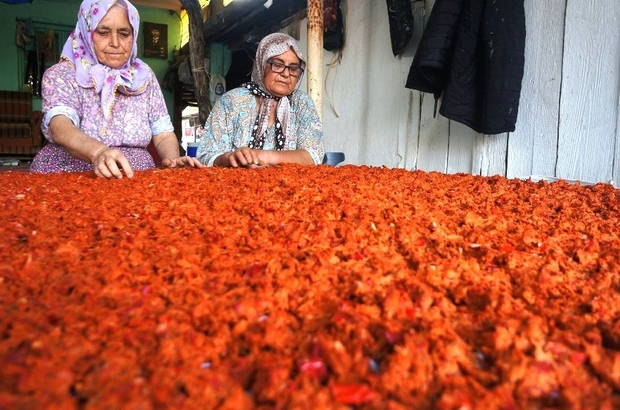 Sarıgöllü kadınlar evlerde tarhana yapımına başladı