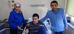 Tedavisi için Sağlık Bakanlığı'nın devreye girdiği engelli Tayfun ağrıyan dişinden kurtuldu