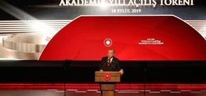 Beştepe'deki Yükseköğretim Akademik yılı açılış törenine Rektör karacoşkun da katıldı