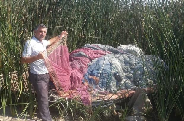 Hırsızlar 60 bin TL değerinde 300 metrelik balık ağının kurşunlarını çaldı