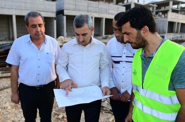 Başkan Çınar, Yeşil Yaka inşaatlarını yerinde inceledi