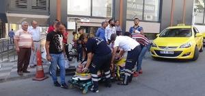 Trafik kazasında engelli kadın yaralandı