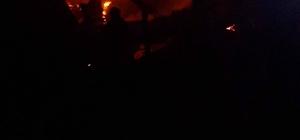 Safranbolu'da alevlerin sardığı ahşap ev tamamen yandı