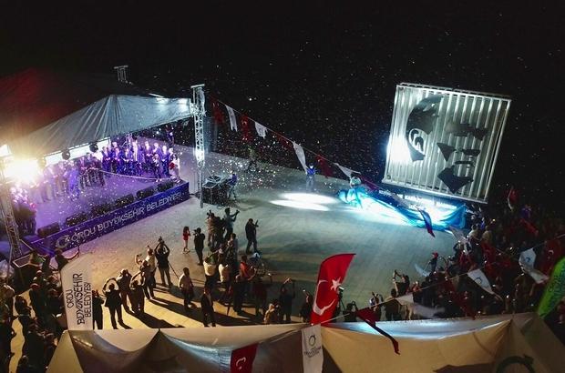 """Ordu'da Atatürk portresi açılışı AK Parti'li Ordu Büyükşehir Belediye Başkanı Güler: """"Mustafa Kemal Atatürk sadece bir komutan değil, çok önemli bir devlet adamıydı ve bir devrimciydi"""""""
