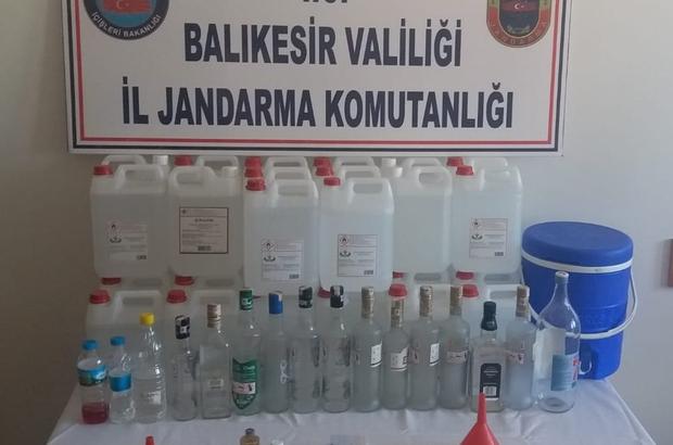 Susurluk'ta jandarmadan kaçak içki operasyonu