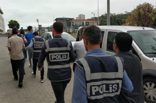 Samsun'da aranan şahıslara operasyon: 39 gözaltı