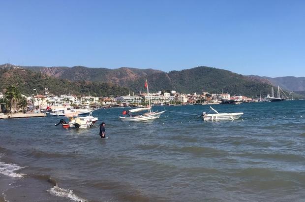 Marmaris'te plajlar yabancı turistlere kaldı