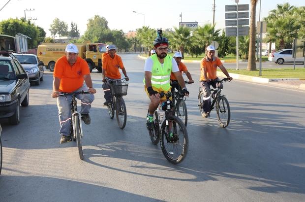 Toroslar Belediyesi personeli pedal çevirdi