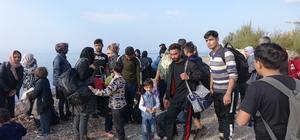 Lastik bot battı, 39 düzensiz göçmen ölümden döndü Çanakkale'de 119 düzensiz göçmen yakalandı